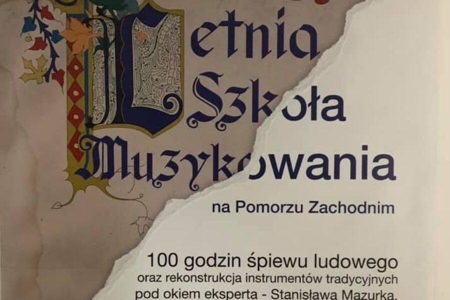 Summer music school in Western Pomerania – the second edition of the course carried out as part of the EtnoPolska 2019 project